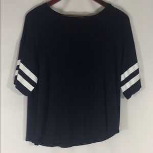 American Eagle Purple Super Soft Box Cut T-Shirt